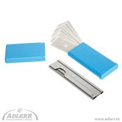 Škrabka TRIM + 10 nožov na rúčku stierky
