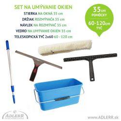 Set na čistenie okien 35 cm a teleskopická tyč 60-120 cm