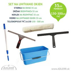 Set na umývanie okien 35 cm a teleskopická tyč 150-300 cm