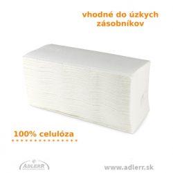 Úzke papierové utierky biele ZZ