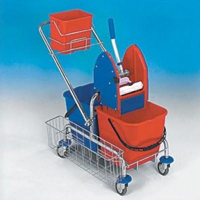 Vozík CLASIC 2x17L + košík bočný + košík na 6L vedro + vedro 6L