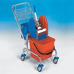 Vozík Clasic 1x17L+ košík zadný s vedrom 6L + košík na rukoväť