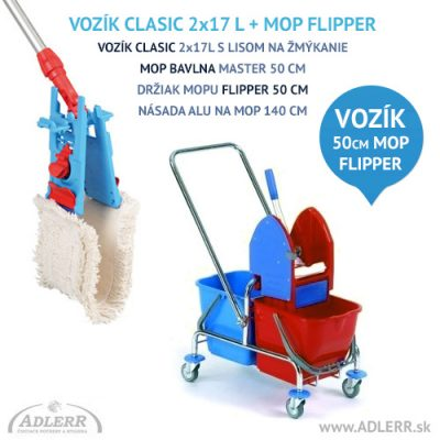 Set na podlahy Vozík Clasic + Mop FLIPPER