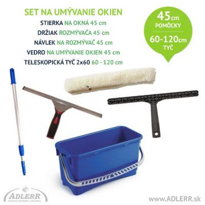 Set na umývanie okien 45 cm a teleskopická tyč 60-120 cm