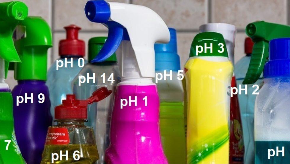 Čistiace prostriedky a pH
